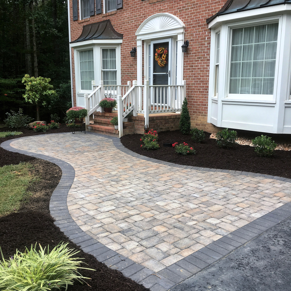 front entry landscaping in Plymouth MN
